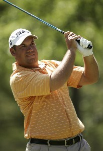 Brendon De Jonge during a practice round at the 2007 Wachovia Championship held at the Quail Hollow Country Club in Charlotte, North Carolina on Tuesday, May 1, 2007. Photo by Sam Greenwood/WireImage.com