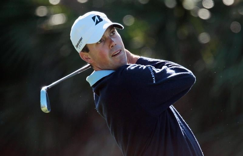 DORAL, FL - MARCH 11:  Matt Kuchar hits his tee shot on the 13th hole during the completion of the first round of the 2011 WGC- Cadillac Championship at the TPC Blue Monster at the Doral Golf Resort and Spa on March 11, 2011 in Doral, Florida.  (Photo by Scott Halleran/Getty Images)