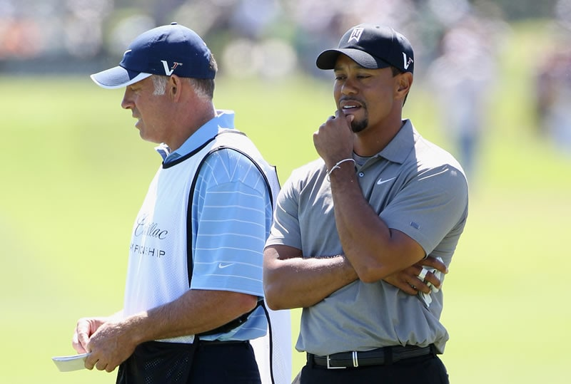 Steve Williams and Tiger Woods