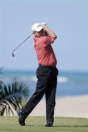 RIO GRANDE, PR - MARCH 11: Michael Bradley hits a drive during the second round of the Puerto Rico Open presented by seepuertorico.com at Trump International Golf Club on March 11, 2011 in Rio Grande, Puerto Rico.  (Photo by Michael Cohen/Getty Images)