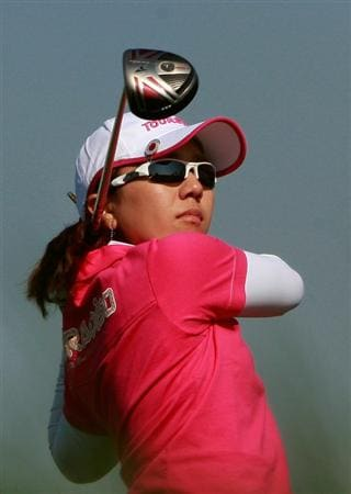 INCHEON, SOUTH KOREA - OCTOBER 30:  Mika Miyazato of Japan on the 6th hole during the 2010 LPGA Hana Bank Championship at Sky 72 Golf Club on October 30, 2010 in Incheon, South Korea.  (Photo by Chung Sung-Jun/Getty Images)