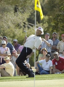Kirk Triplett birdies the 17th hole during the final round of the 2006 Chrysler Classic of Tucson on Sunday , February 26, 2006 at the Omni Tucson National Golf Resort and Spa in Tucson, ArizonaPhoto by Marc Feldman/WireImage.com