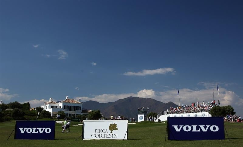 CASARES, SPAIN - MAY 21:  Graeme McDowell of Northern Ireland walks with his caddie during his quarter final match of the Volvo World Match Play Championship at Finca Cortesin on May 21, 2011 in Casares, Spain.  (Photo by Andrew Redington/Getty Images)