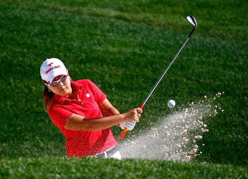 BETHLEHEM, PA - JULY 08:  Mika Miyazato of Japan hits a shot during a practice round prior to the start of thw 2008 U.S. Women's Open at the Saucon Valley Country Club on July 8, 2009 in Bethlehem, Pennsylvania.  (Photo by Scott Halleran/Getty Images)
