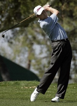 Mike Reid on the 10th hole and who took 4th place during the 2nd round of the SBC Classic PGA  Tour at the Valencia Country Club in  Valencia, California on March 12, 2005.
