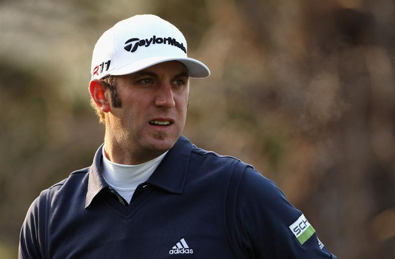 ICHEON, SOUTH KOREA - APRIL 29:  Dustin Johnson of the USA looks on during the second round of the Ballantine's Championship at Blackstone Golf Club on April 29, 2011 in Icheon, South Korea.  (Photo by Andrew Redington/Getty Images)