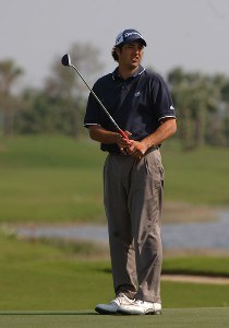 Alex Aragon putts on the 17th green during a Pro Am at the 2006 Honda Classic March 6 at the Country Club at Mirasol in Palm Beach Gardens, Florida.Photo by Al Messerschmidt/WireImage.com