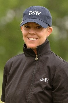 Jill McGill competes  April 29 in  the rain-delayed second round of the 2005 Franklin American Mortgage Championship in Franklin, Tn.Photo by Al Messerschmidt/WireImage.com