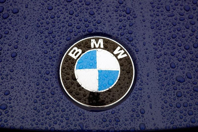 ST. LOUIS - SEPTEMBER 04:  A detail of rain on a car logo as the first round of the BMW Championship is postponed on September 4, 2008 at Bellerive Country Club in St. Louis, Missouri.  (Photo by Jamie Squire/Getty Images)