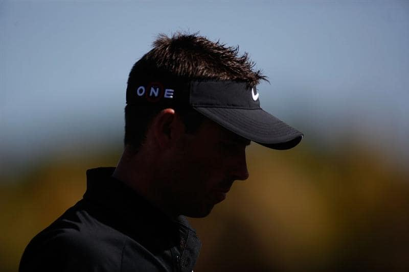 DORAL, FL - MARCH 14:  Charl Schwartzel of South Africa waits to play his shot on the eighth hole during the final round of the 2010 WGC-CA Championship at the TPC Blue Monster at Doral on March 14, 2010 in Doral, Florida.  (Photo by Marc Serota/Getty Images)
