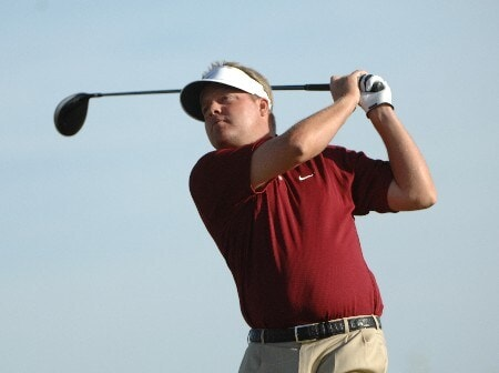 SCOTTSDALE, AZ - OCTOBER 21:  Carl Pettersson tees off the 17th hole  during the fourth and final round of the Fry's Electronics Open on October 21, 2007at the Grayhawk Golf Club in Scottsdale, Arizona  (Photo by Marc Feldman/Getty Images)