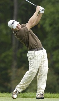 Ryan Moore during the third round of the 2005 84 Lumber Classic on Saturday, September 17, 2005 held at the Mystic Rock Golf Course/Nemacolin Woodlands Resort in Farmington, Pennsylvania.Photo by Marc Feldman/WireImage.com
