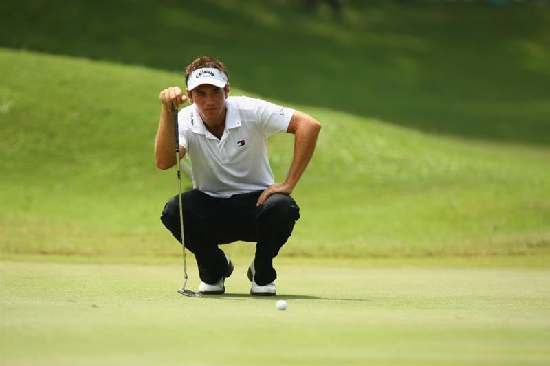KUALA LUMPUR, MALAYSIA - FEBRUARY 14:  Nick Dougherty of England looks on during the 3rd round of the 2009 Maybank Malaysian Open at Saujana Golf and Country Club on February 14, 2009 in Kuala Lumpur, Malaysia.  (Photo by Ian Walton/Getty Images)