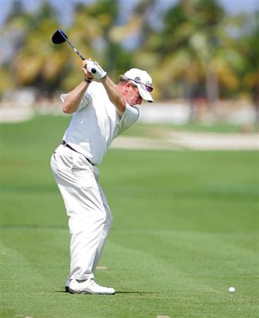 RIO GRANDE, PR - MARCH 13:  Woody Austin hits a drive during the continuation of the first round of the Puerto Rico Open presented by Banco Popular at Trump International Golf Club held on March 13, 2010 in Rio Grande, Puerto Rico.  (Photo by Michael Cohen/Getty Images)