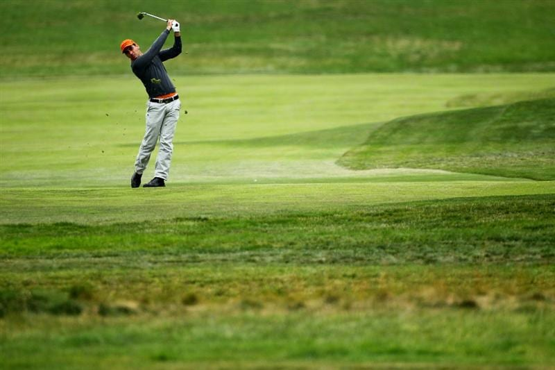PEBBLE BEACH, CA - JUNE 18:  Rafael Cabrera-Bello of Spain hits a shot on the second hole during the second round of the 110th U.S. Open at Pebble Beach Golf Links on June 18, 2010 in Pebble Beach, California.  (Photo by Donald Miralle/Getty Images)