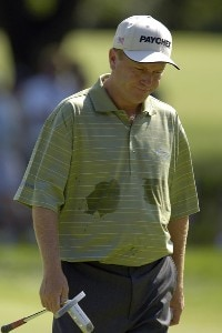 Jeff Sluman during the third round of the U.S. Bank Championship in Milwaukee at Brown Deer Park Golf Course in Milwaukee, Wisconsin, on July 29, 2006.Photo by Steve Levin/WireImage.com