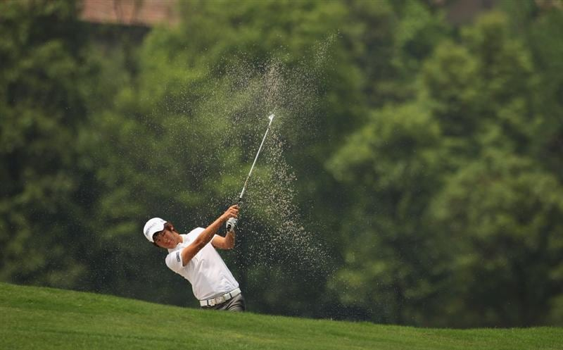 CHENGDU, CHINA - APRIL 21:  Chang-won Han of Korea in action during first round of the Volvo China Open at Luxehills Country Club on April 21, 2011 in Chengdu, China.  (Photo by Ian Walton/Getty Images)