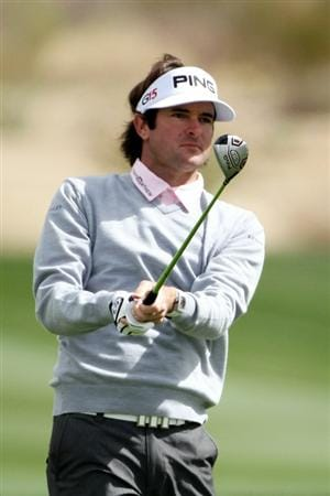 MARANA, AZ - FEBRUARY 27:  Bubba Watson hits an approach shot on the second hole during the final round of the Accenture Match Play Championship at the Ritz-Carlton Golf Club on February 27, 2011 in Marana, Arizona.  (Photo by Andy Lyons/Getty Images)