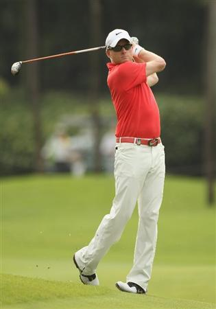 KUALA LUMPUR, MALAYSIA - APRIL 16:  Simon Dyson of England in action during day three of the Maybank Malaysian Open at Kuala Lumpur Golf & Country Club on April 16, 2011 in Kuala Lumpur, Malaysia.  (Photo by Ian Walton/Getty Images)