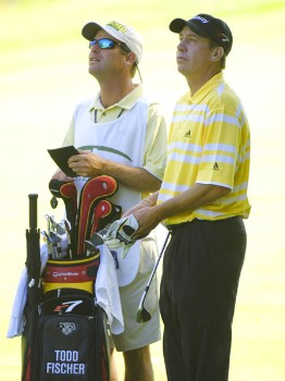 Todd Fischer during the second round of the 2005 Cialis Western Open at Cog Hill Golf and Country Club in Lemont, Illinois on Friday, July 1, 2005.Photo by Marc Feldman/WireImage.com
