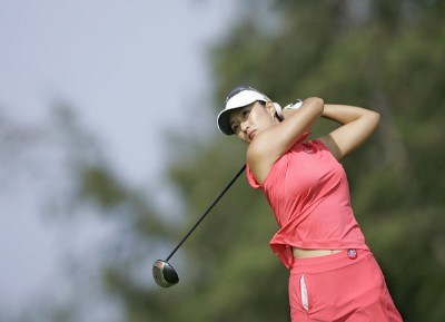 Grace Park drives on the third tee during the final round of the SBS Open Feb. 18, 2006 at the Turtle Bay Resort Golf Club in Kahuku, on the island of Oahu, Hawaii.Photo by Marco Garcia/WireImage.com