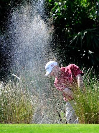 PALM BEACH GARDENS, FL - MARCH 07:  George McNeill plays a shot out of the water on the 6th hole during the final round of the Honda Classic at PGA National Resort And Spa on March 7, 2010 in Palm Beach Gardens, Florida.  (Photo by Sam Greenwood/Getty Images)
