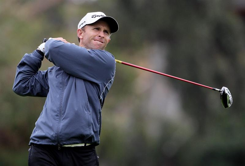 PACIFIC PALISADES, CA - FEBRUARY 06:  Tim Wilkinson of New Zealand hits a tee shot on the second hole during the third round of the Northern Trust Open at Riviera Country Club on February 6, 2010 in Pacific Palisades, California.  (Photo by Jeff Gross/Getty Images)