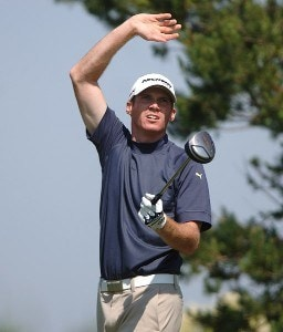 Ricky Barnes in action during the first round of the Nationwide Tour 2006 LaSalle Bank Open at the The Glen Club in Glenview, Illinois on June 8, 2006.Photo by Steve Grayson/WireImage.com