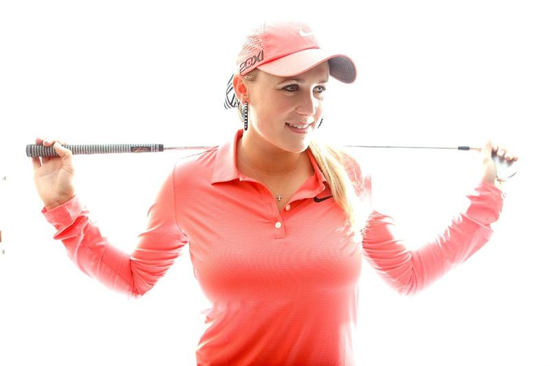 CITY OF INDUSTRY, CA - MARCH 22:  Amanda Blumenherst poses for a portrait on March 22, 2011 at the Industry Hills Golf Club in the City of Industry, California.  (Photo by Jonathan Ferrey/Getty Images)