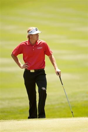 SAN ANTONIO, TX - APRIL 15: Brandt Snedeker watches play during the second round of the Valero Texas Open at the AT&T Oaks Course at TPC San Antonio on April 15, 2011 in San Antonio, Texas. (Photo by Darren Carroll/Getty Images)
