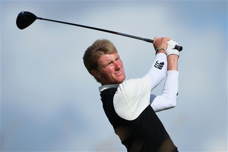 SOUTHPORT, UNITED KINGDOM - JULY 20:  Amateur Chris Wood of England tees off on the 16th during the final round of the 137th Open Championship on July 20, 2008 at Royal Birkdale Golf Club, Southport, England.  (Photo by Andrew Redington/Getty Images)