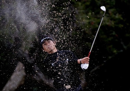 Hidemichi Tanaka competes in first-round competition March 3, 2005  at the Ford Championship at Doral in Miami.