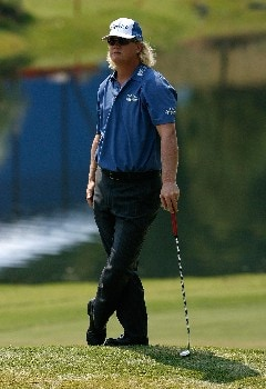 GREENSBORO, NC - AUGUST 15:  Charley Hoffman awaits his putt on the 15th green during the second round of the 2008 Wyndham Championship at Sedgefield Country Club on August 15, 2008 in Greensboro, North Carolina.  (Photo by Kevin C. Cox/Getty Images)