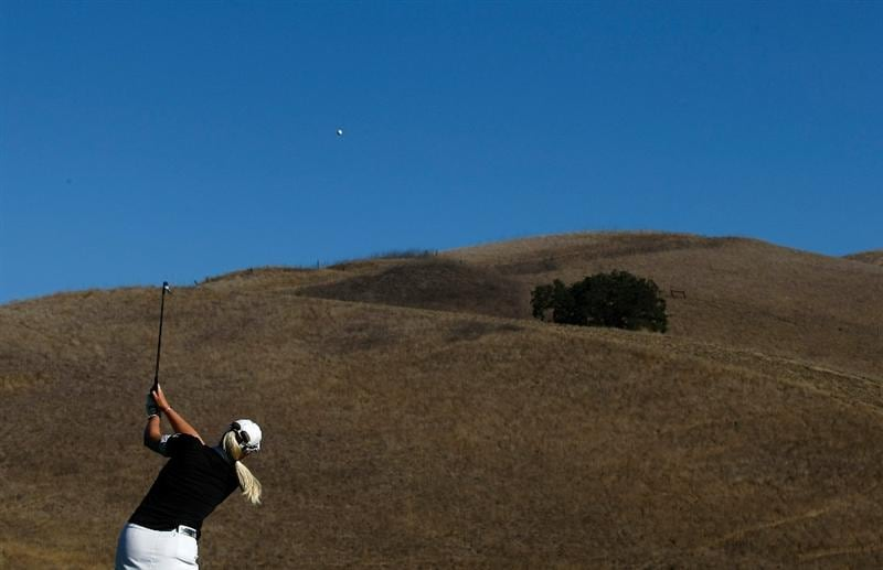 DANVILLE, CA - SEPTEMBER 25:  Brittany Lincicome hits her second shot on the 13th hole during the second round of the CVS/pharmacy LPGA Challenge at Blackhawk Country Club on September 25, 2009 in Danville, California.  (Photo by Jonathan Ferrey/Getty Images)