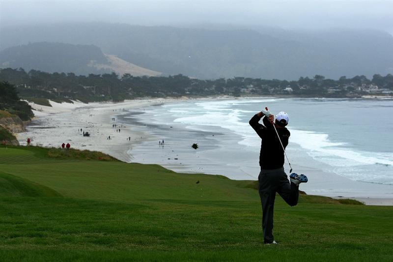 PEBBLE BEACH, CA - JUNE 18:  Jason Allred plays a  shot on the ninth hole during the second round of the 110th U.S. Open at Pebble Beach Golf Links on June 18, 2010 in Pebble Beach, California.  (Photo by Donald Miralle/Getty Images)