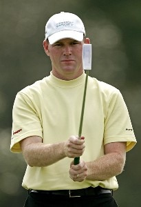 Troy Matteson on the 8th hole during the third round of the 2006 FUNAI Classic at WALT DISNEY WORLD Resort on the Magnolia Course in Lake Buena Vista, Florida, on October 21, 2006. PGA TOUR - 2006 FUNAI Classic at the WALT DISNEY WORLD Resort - Third RoundPhoto by Sam Greenwood/WireImage.com
