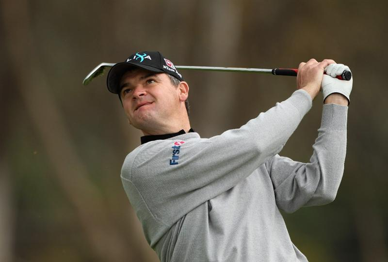 MALAGA, SPAIN - MARCH 25:  Paul Lawrie of Scotland plays his second shot into the seventh green during the first round of the Open de Andalucia 2010 at Parador de Malaga Golf on March 25, 2010 in Malaga, Spain.  (Photo by Warren Little/Getty Images)