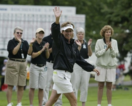 Rosie Jones says farewell to Rochester after  the fourth round of the 2005 Wegman's Rochester LPGA at Locust Hill Country Club in  Pittsford, New York on June 19, 2005.Photo by Michael Cohen/WireImage.com