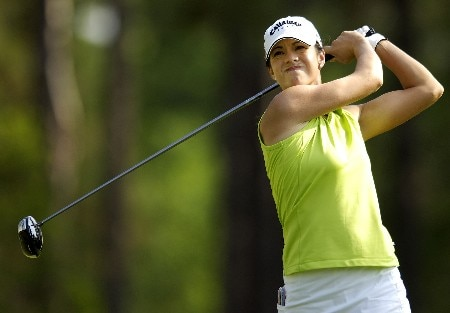 SOUTHERN PINES, NC - JUNE 28:  Leta Lindley hits her drive from the seventh tee during round one of the U.S. Women's Open Championship at Pine Needles Lodge & Golf Club on June 28, 2007 in Southern Pines, North Carolina.  (Photo by Jonathan Ernst/Getty Images)