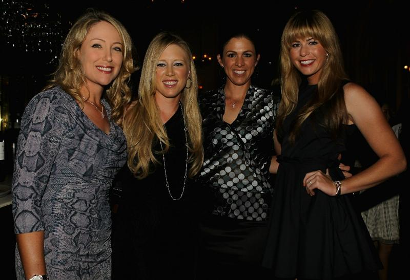 SINGAPORE - FEBRUARY 23:  (L-R) Cristie Kerr, Morgan Pressel, Nicole Castrale and Paula Creamer (all of the USA) pose for a photograph during the Welcome Reception prior to the start of the HSBC Women's Champions at the Tanah Merah Country Club on February 23, 2011 in Singapore.  (Photo by Scott Halleran/Getty Images)