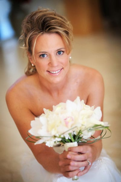 Annika Sorenstam on her wedding day, January 10, 2009