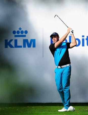 HILVERSUM, NETHERLANDS - SEPTEMBER 11:  Christian Nilsson of Sweden plays his tee shot on the ffith hole during the third round of  The KLM Open Golf at The Hillversumsche Golf Club on September 11, 2010 in Hilversum, Netherlands.  (Photo by Stuart Franklin/Getty Images)