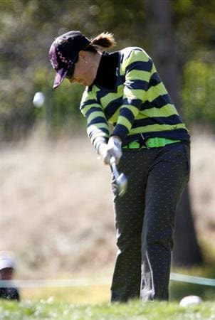 DANVILLE, CA - OCTOBER 12: Mollie Fankhauser makes a tee shot on the 7th hole during the final round of the LPGA Longs Drugs Challenge at the Blackhawk Country Club October 12, 2008 in Danville, California. (Photo by Max Morse/Getty Images)