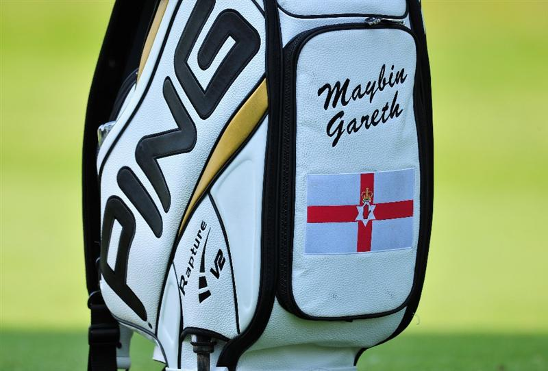 TURIN, ITALY - MAY 07:  The golf bag of Gareth Maybin of Northern Ireland that has his name the wrong way around during the first round of the BMW Italian Open at Royal Park I Roveri on May 7, 2009 near Turin, Italy.  (Photo by Stuart Franklin/Getty Images)