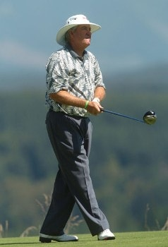 Dave Stockton in action during the first round of the 2005 Boeing Greater Seattle Classic at TPC Snoqualmie in Snoqualmie, Washington August 19, 2005.Photo by Steve Grayson/WireImage.com