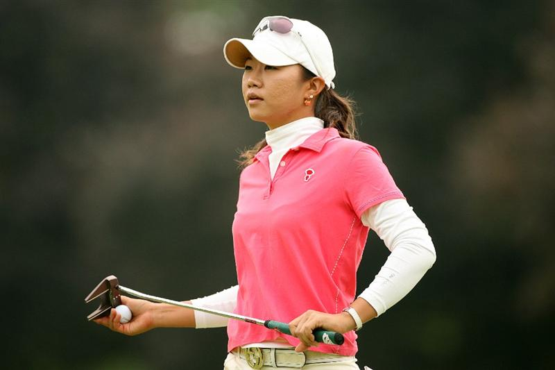 CLIFTON, NJ - MAY 16 : Ji Young Oh of South Korea walks off the 7th green after making birdie during the third round of the Sybase Classic presented by ShopRite at Upper Montclair Country Club on May 16, 2009 in Clifton, New Jersey. (Photo by Hunter Martin/Getty Images)