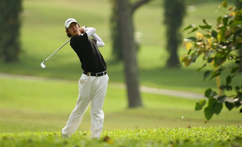 KUALA LUMPUR, MALAYSIA - FEBRUARY 13:  Seung-yul Noh of Korea in action during the round two of the 2009 Maybank Malaysian Open at Saujana Golf and Country Club on February 13, 2009 in Kuala Lumpur, Malaysia.  (Photo by Ian Walton/Getty Images)
