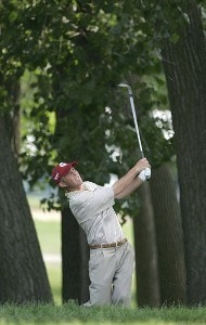 Jonathan Kaye during the first round of the Cialis Western Open on the No. 4 Dubsdread course at Cog Hill Golf and Country Club in Lemont, Illinois on July 6, 2006.