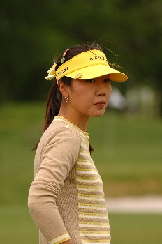 Soo-Yun Kang competes  April 29 in  the rain-delayed second round of the 2005 Franklin American Mortgage Championship in Franklin, Tn.Photo by Al Messerschmidt/WireImage.com