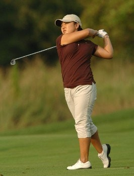 Jeong Jang in action during the third round of the 2005 Wendy's Championship for Children at the Tartan Fields Golf Club in Dublin, Ohio on Saturday August 27, 2005.Photo by Steve Grayson/WireImage.com